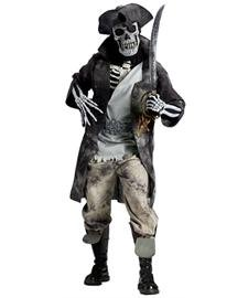 (Fun World Men's Ghost Pirate Costume, Multi,)