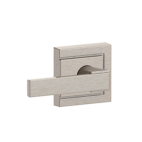 Schlage F10 NBK 619 ULD Northbrook Lever with Upland Trim Hall and Closet Lock, Satin Nickel