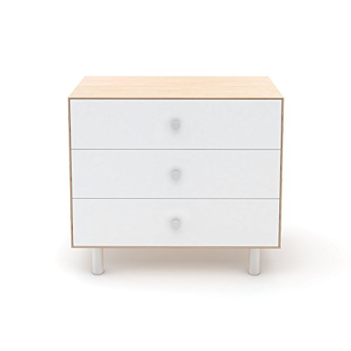Oeuf Merlin 3 Drawer Dresser in Birch with Classic Base 3 Drawer Dresser Base