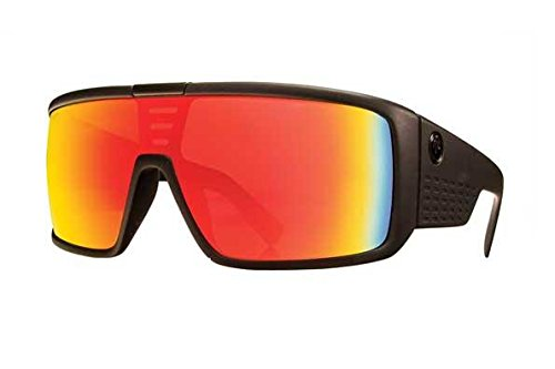 Dragon Sunglasses - Domo / Frame: Matte Black Lens: Red ()