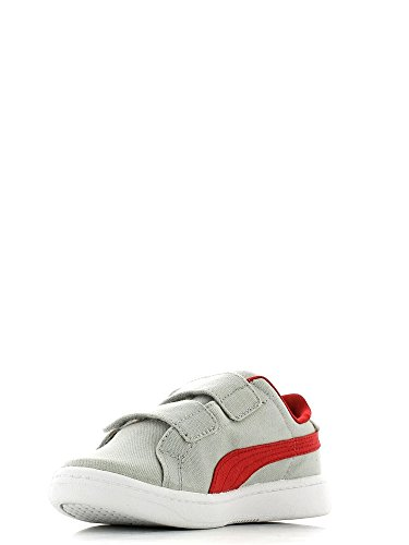 Puma , Jungen Sneaker Glacier grey-high r red