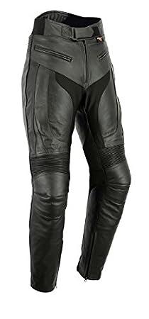 Texpeed - Pantalon de moto RS - pour homme - avec protections amovibles - cuir/style sportif - Tour de taille 44' Longueur 32' LT-RS-44