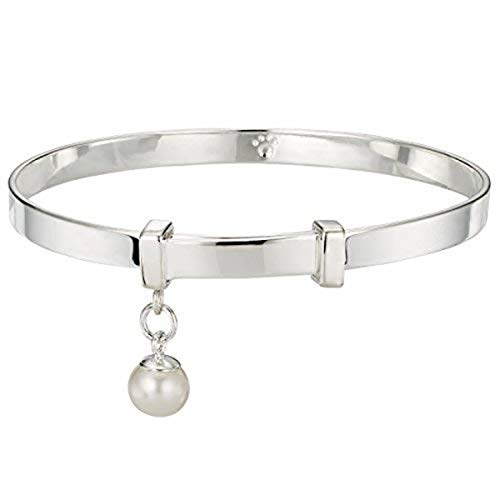 - Molly B London | 925 Sterling Silver Baby's First Pearl Baptism Bangle