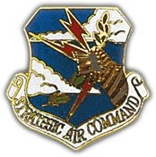 US Air Force Strategic Air Command Shield Lapel - Crest Hat Pin