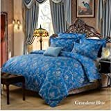 Eiderdown Underwrite Put - 4pcs Vintage Europe Polyester Fibre Bedding Suit Retro Pattern Printed Set - Continental Quilt Insure Laid Breed Rig Book Binding Nonmoving Blanket