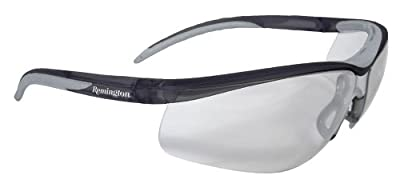 Remington T-71 Dual Mold Shooting Glasses (Clear Anti-Fog Lens/Black Frame)