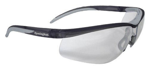 Remington T-71 Dual Mold Shooting Glasses (Clear Anti-Fog Lens/Black Frame) (Lens Shooting Glasses)