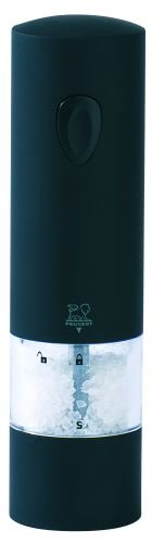 Salt Electric Peugeot - Peugeot 24598 Electric Soft Touch 8 Inch Salt Mill, Onyx