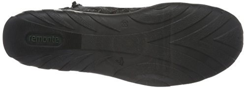 Remonte R3456, Zapatillas Altas Para Mujer Negro (Schwarz/Schwarz-Metallic/Schwarz / 02)