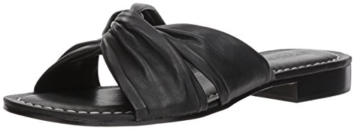 Bernardo Women's Tiffany Flat Sandal, Black Glove Leather, 11M M US