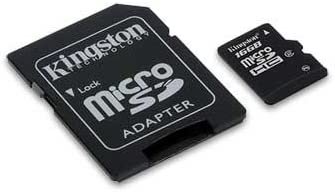 Professional Kingston 16GB MicroSDHC Verykool R25 with custom formatting and Standard SD Adapter! 32Mbps // Class 4