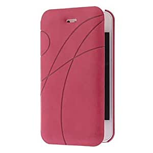 YXF PU Leather Solid Color Full Body Case with Bulit in Matte Back Cover for iPhone 4/4S (Optional Colors) , Rose