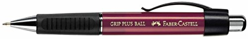 Faber-Castell Grip Plus Ball 0.7mm Ballpoint Pen - Metallic Red