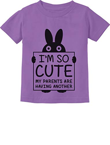 Lavender Toddler T-shirt - I'm So Cute My Parents are Having Another Funny Toddler/Infant Kids T-Shirt 2T Lavender
