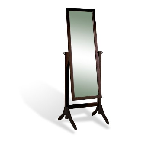 amazoncom new cappuccino espresso standing cheval floor mirror home u0026 kitchen