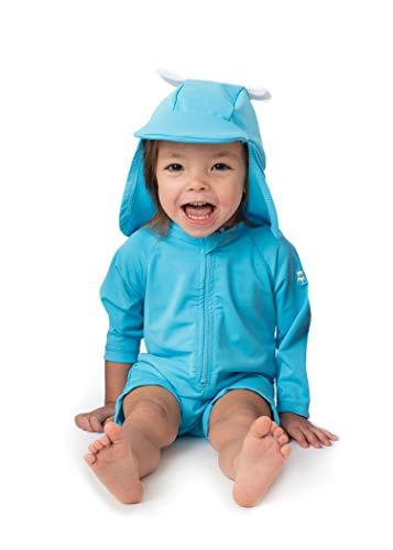 Sunzies Baby Bear Rashguard Sunsuit Blue 3-6m, Blue, Size 3-6 Months