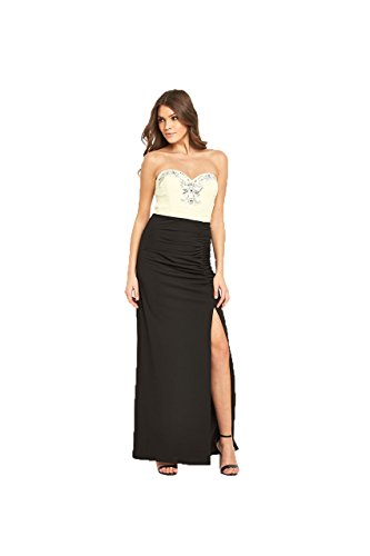 Black Cocktail Damen Lipsy Kleid Cream qg0apw