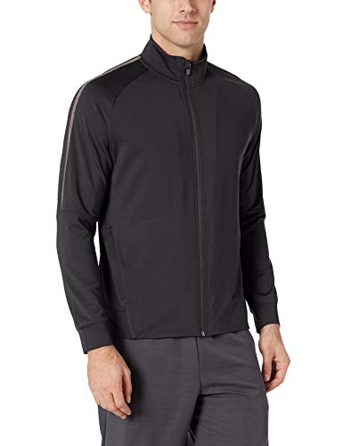 (Amazon Essentials Men's Performance Track Jacket, Black, Medium)