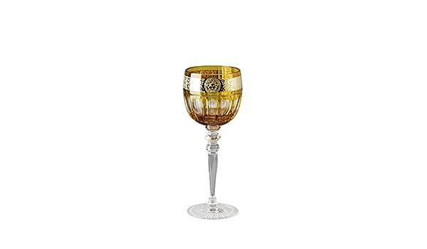 Versace Gala Prestige Medusa ámbar copa vino blanco ccm 200 H 200: Amazon.es: Hogar