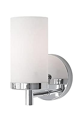 "Radionic Hi Tech K_VA_8955 Yellin 4.75"" 1 Light Chrome Bath Light Yellin 1 Light Chrome Bath Light"