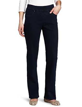 LEE Women's Natural Fit Pull on Barely Bootcut Pant (Neptune, 4 Long)