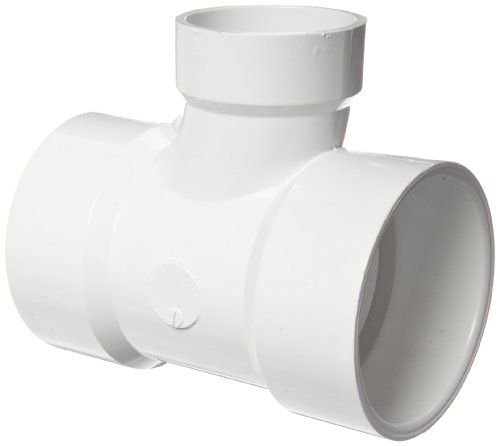 Spears P401 Series PVC DWV Pipe Fitting, Reducing Sanitary Tee, 3