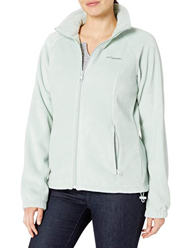 Columbia Women's Benton Springs Full Zip Jacket, Soft Fleece with Classic Fit, Cool Green, X-Large (Womens Columbia Three Lakes Hooded Long Fleece Jacket)