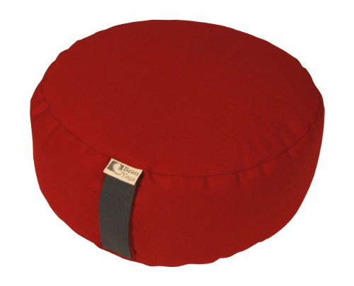 Zafu Yoga Meditation Cushion Organic Buckwheat Fill - 16 COLORS - 10oz. Cotton, Made In USA, by Bean Products Burgundy