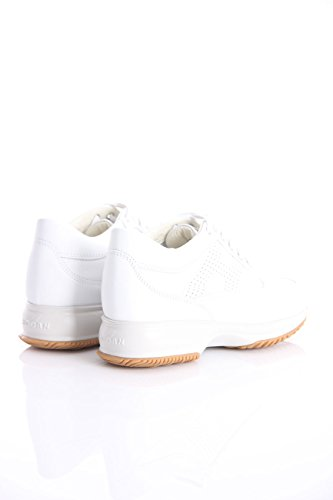 INTERACTIVE SHOES IN WHITE LEATHER AND TRAFORED H, Damen.