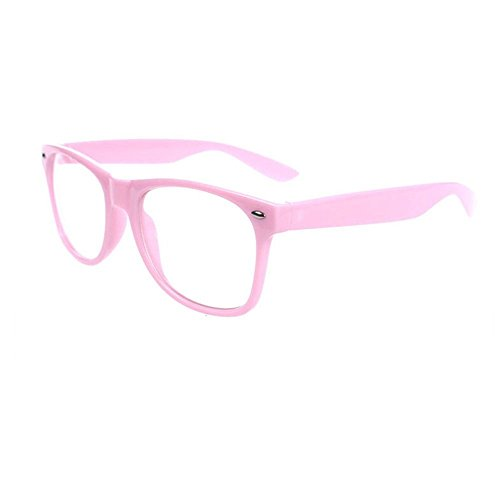 FancyG Classic Retro Fashion Style Clear Lenses Glasses Frame Eyewear - Pink