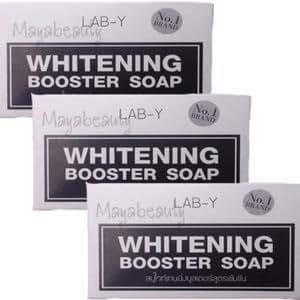 3 Bar: Lab-Y Whitening Booster Lightening Beauty Skin Anti Ageing Bar Soap Skin Bikini,whitening with Collagen,White Body Skin Lightening Bleaching Dark Speed White White Remove Dead Skin Cells.100g