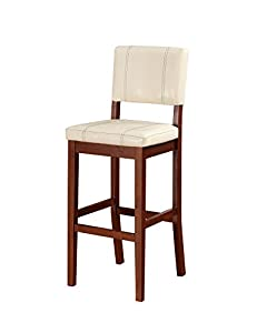 Amazon Com Linon Milano Bar Stool Cream Kitchen Amp Dining