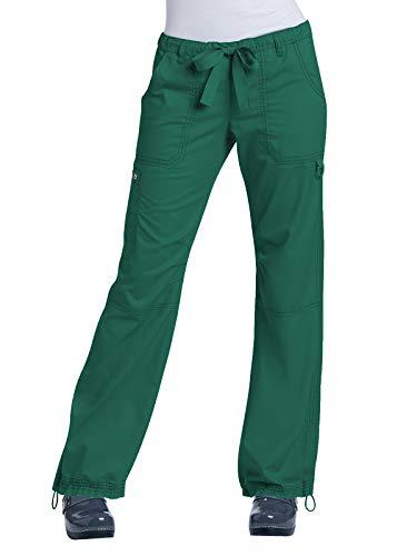 (KOI Women's Lindsey Ultra Comfortable Cargo Style Scrub Pants, Hunter, Medium )