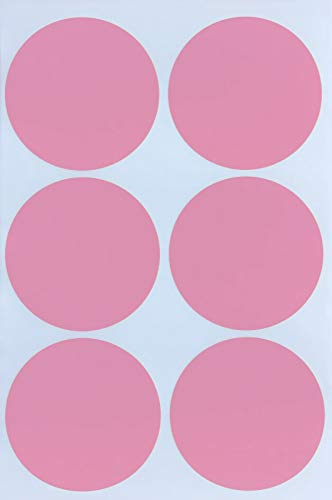 (Colored Stickers dots 50mm 2 inch - Pastel Pink Round Labels in Bright Colors Party Spring - 72 Pack by Royal Green)