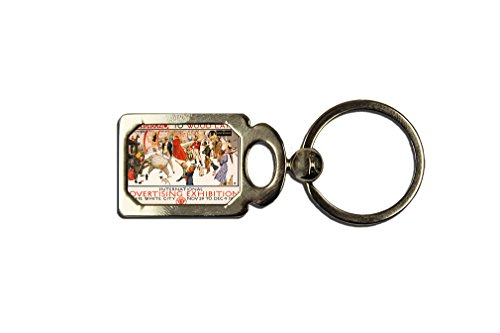 London Underground Art Nouveau Poster One Side Framed Metal Key Chain (Shoes Mens Underground London)