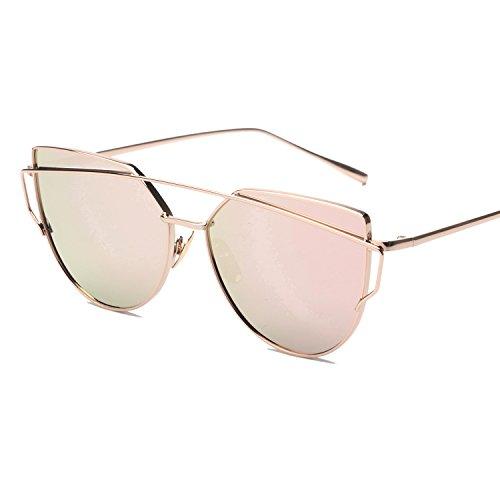Vivian & Vincent Premiun Oversized Cat Eye UV Protection Sunglasses Eyewear Rose Gold Frame Rose Gold (Golf Halloween Costumes)