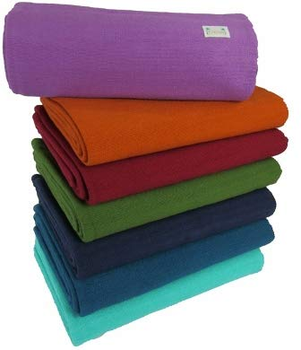 Kakaos Deluxe 100% Cotton Yoga Blanket Without Tassels