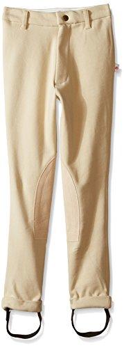 (DEVON-AIRE Kid's Classic Cotton #372 Jodhpur Riding Breeches, Beige, Size 14)