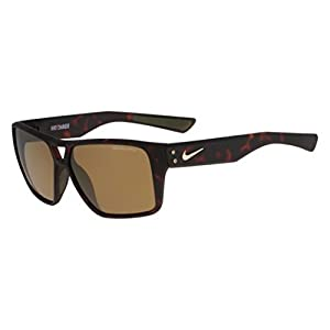 Nike Golf Charger R Sunglasses, Matte Tortoise Frame, Brown with Bronze Flash Lens