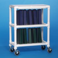 Ring Binder Rack - Innovative Products Unlimited NCR10 L NOTEBOOK CHART RACK - HOLDS 10 RING BINDERS