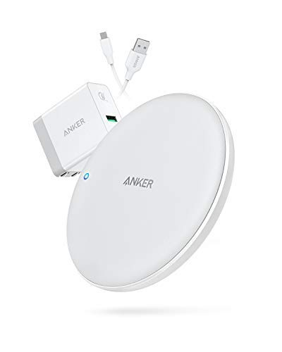 2. Anker PowerWave Fast Wireless Charging Pad with Fast Charging Adapter