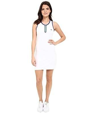 Lacoste Women's Sport Sleeveless Mesh Back Technical Tank Dress, White