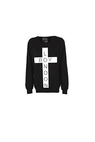 Felpa Donna Boy London Xs Nero Bl612 1/7 Primavera Estate 2017