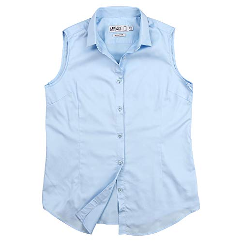 light blue button blouse - 8