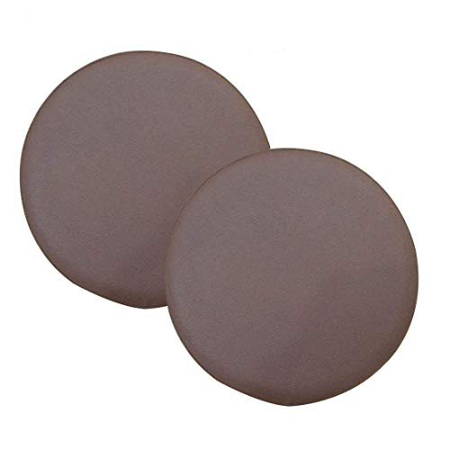 Jinshou 2PCS Round Bar Stool Cover Faux Leather Seat Cushion Home Office Chair Pad Protector Cover Slipcover - Round Seat Leather
