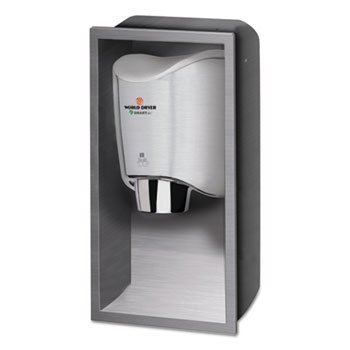 WRL Smartdri Hand Dryer Recess Kit, 15 X 4 X 25, Stainless Steel