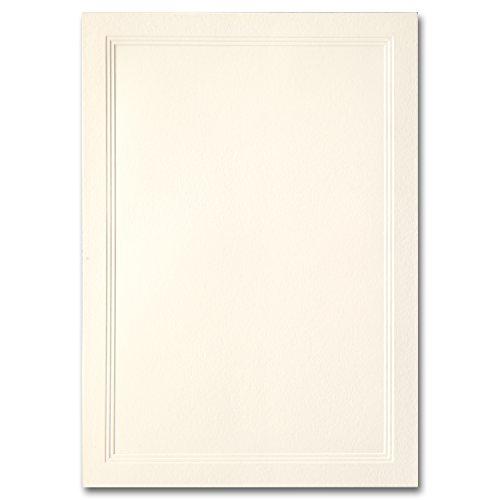 Fine Impressions Jumbo Flat Triple Panel Cards, 5-1/8