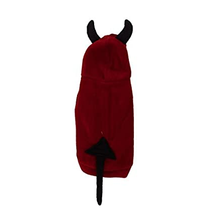 eDealMax Perro de mascota Abrigo perrito Diablo Diseño de la ropa de Halloween, Medio,