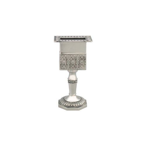 Havdalah Candle Holder with Octagonal Base and Floral Pattern