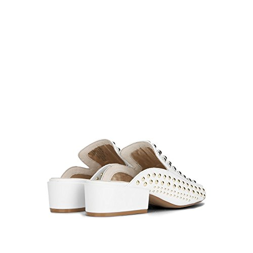Kenneth Cole New York Farley Mocasín Con Tachuelas - Mujeres White